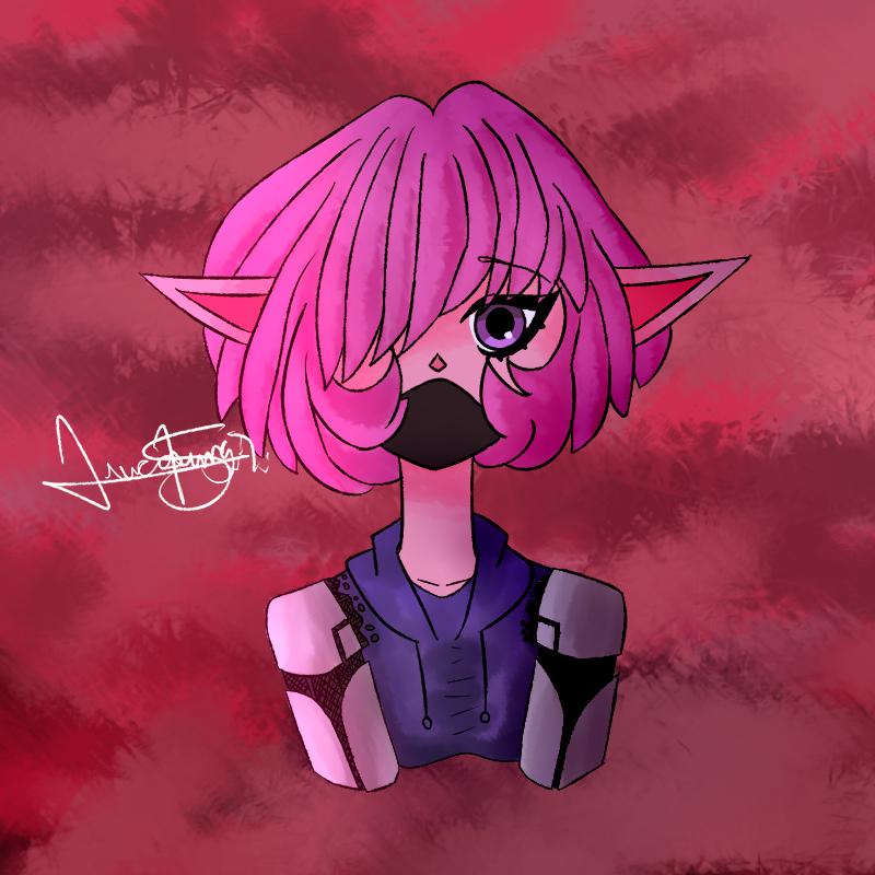 Trash Cyborg (Random drawing) by LoskaNumbNutsG4