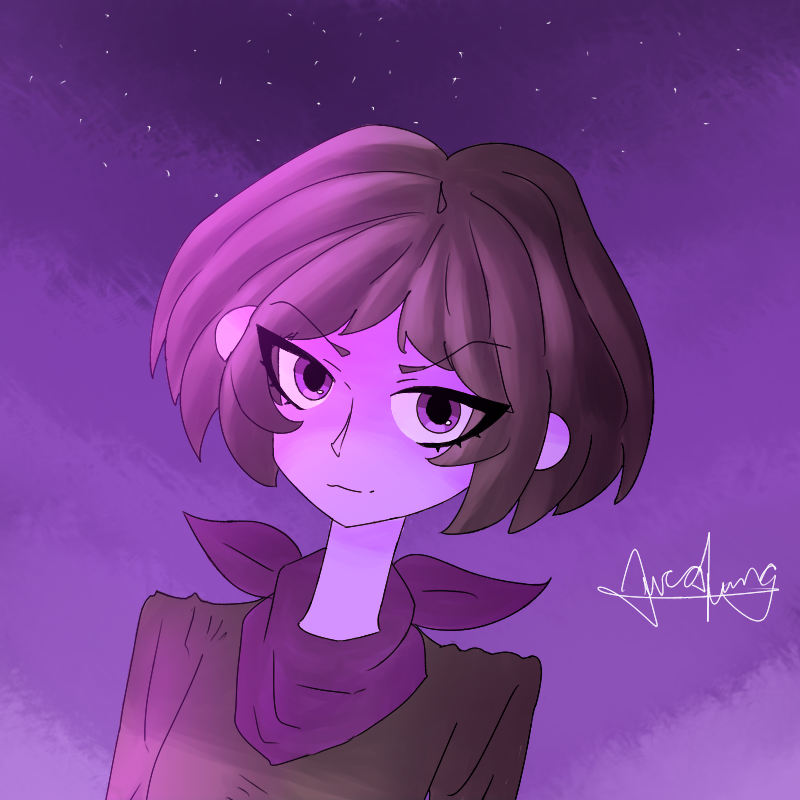 Purple Andromeda (half body) by LoskaNumbNutsG4
