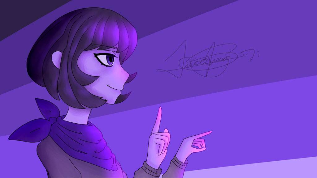 Random Drawing: Pointing by LoskaNumbNutsG4