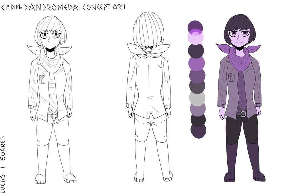Concept Art: Andromeda (First Dimension) by LoskaNumbNutsG4