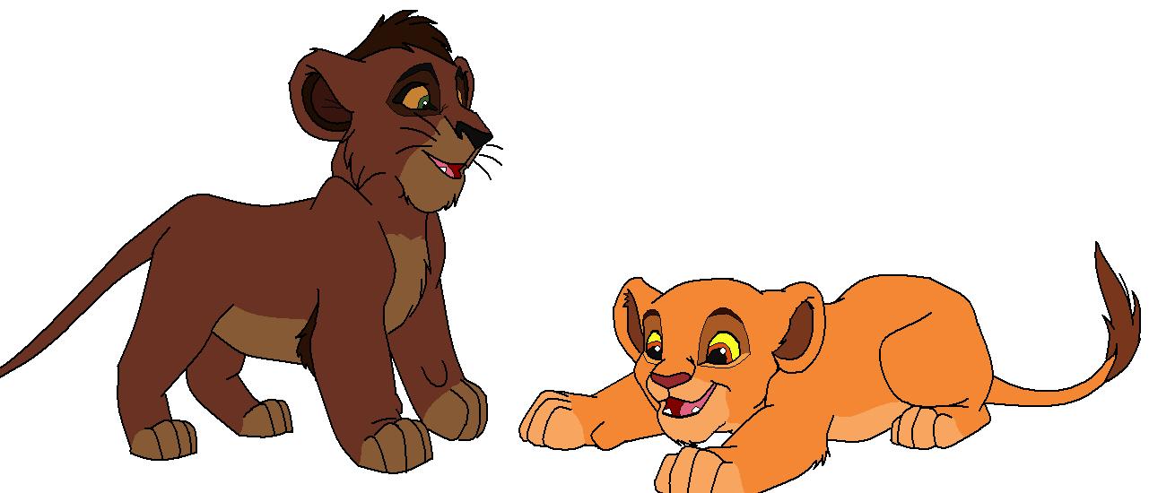 FREE Kovu and Kiara cubs base- 1 by claramalka on DeviantArt