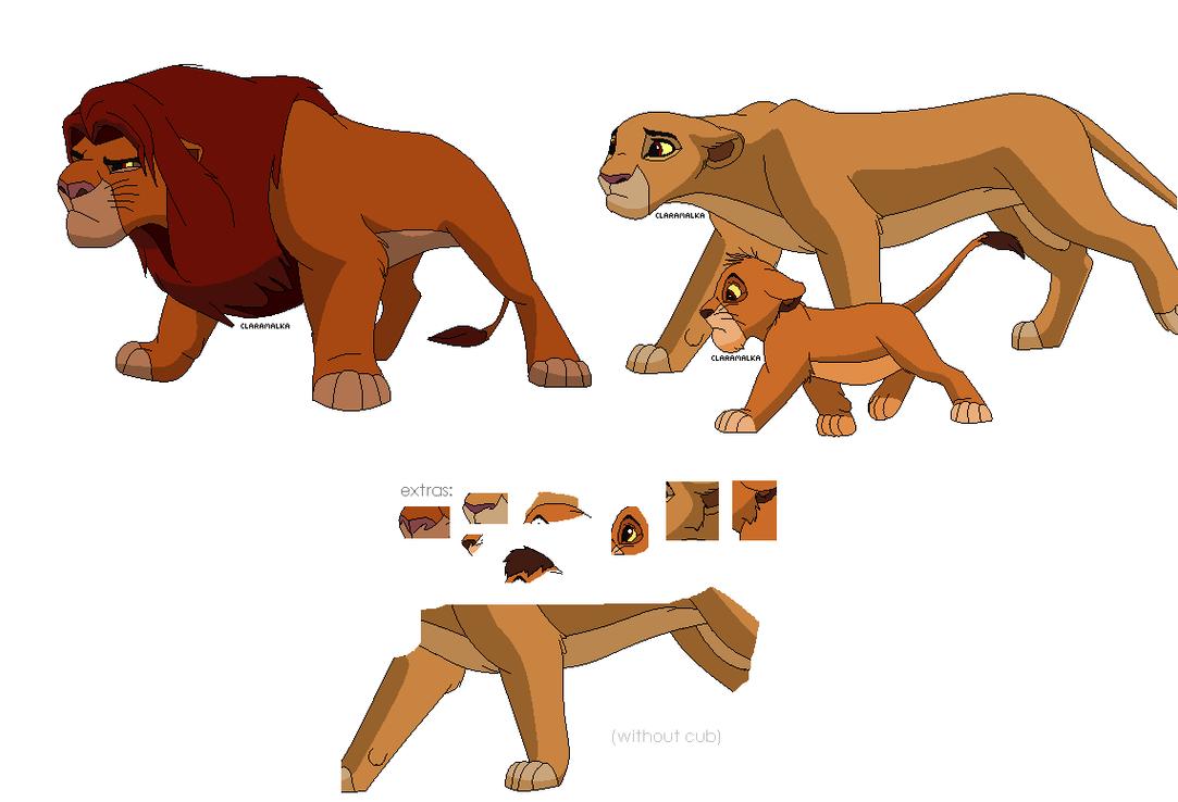 FREE Lion Family base - 2 by claramalka
