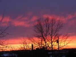 beautiful april sunset by BlueIvyViolet
