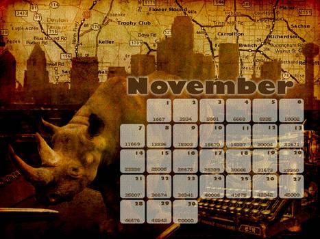NaNoWriMo DFW Calendar