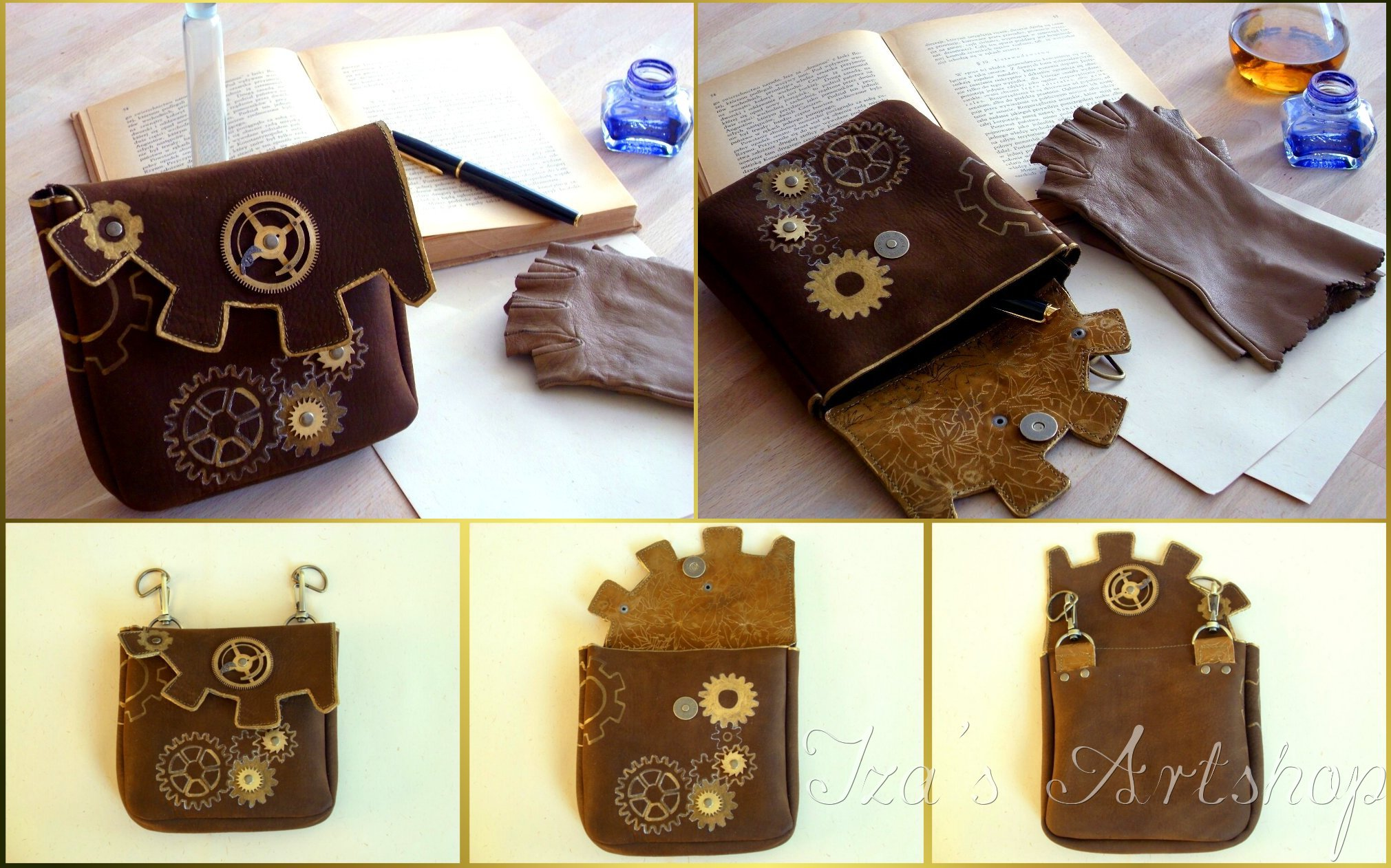 Steampunk belt bag by izasartshop