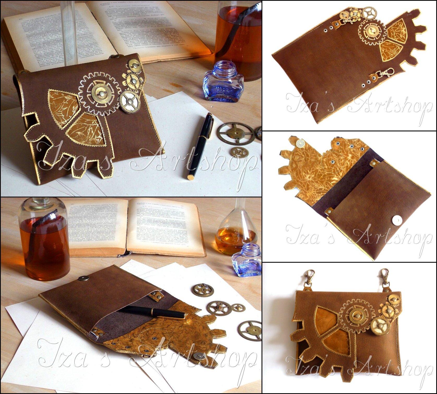 Steampunk belt bag No.2 by izasartshop
