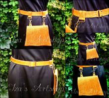'Tierra Seca' belt and bag by izasartshop