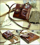 Steampunk Leather Pouch VII