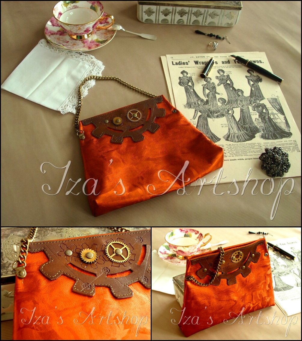 Small Steampunk Cocktail Purse by izasartshop