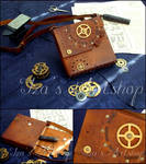 Steampunk Leather Pouch IX