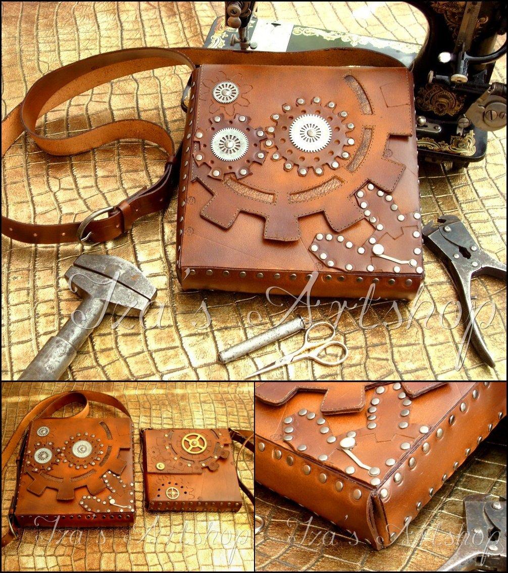 Steampunk Shoulder Bag by izasartshop