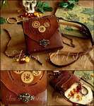Steampunk Leather Pouch XI