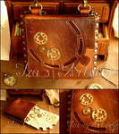 Small Steampunk Leather Belt Bag