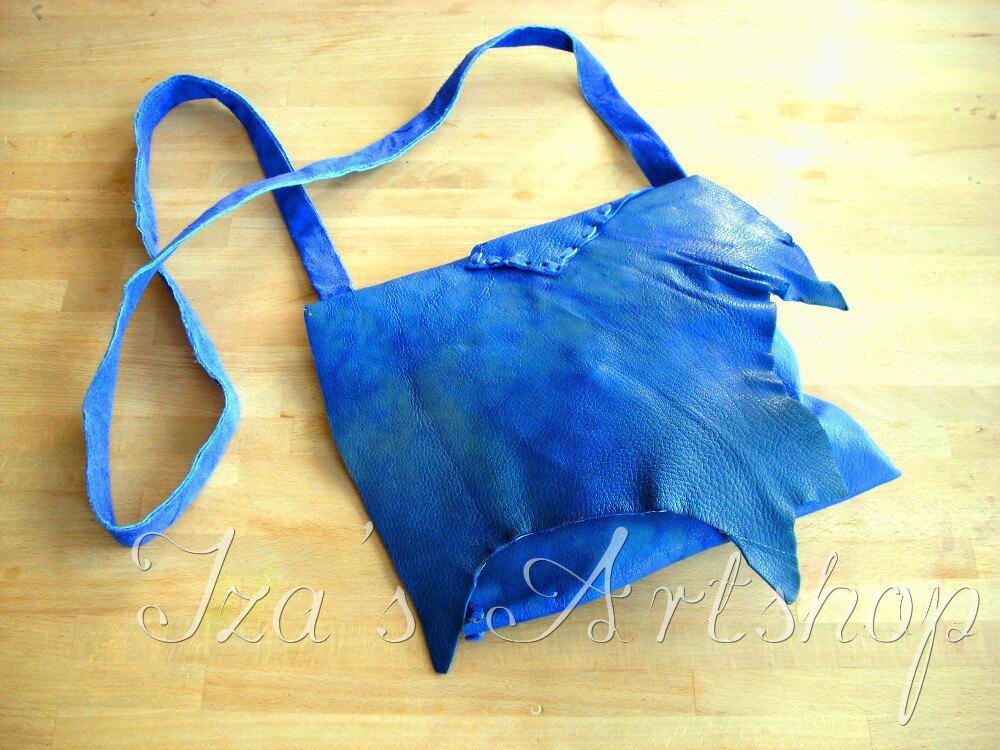 Cobalt Blue Fairy Leather Purse by izasartshop