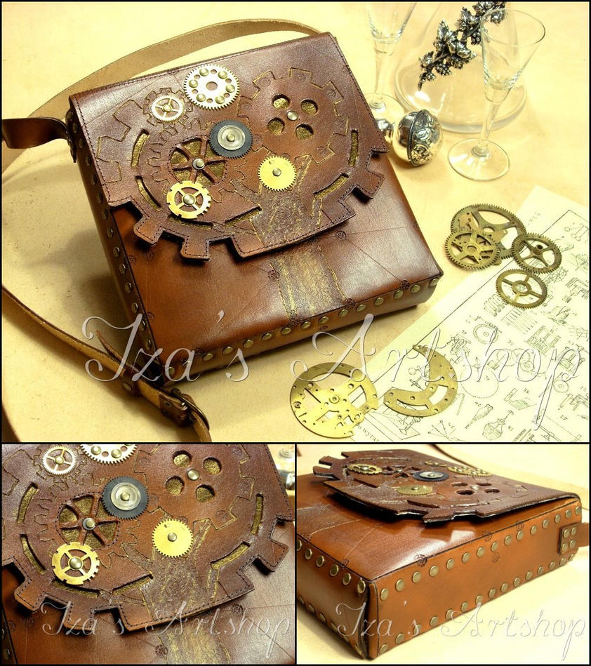 Steampunk Tree Shoulder Bag by izasartshop