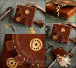 Steampunk Leather Pouch XII