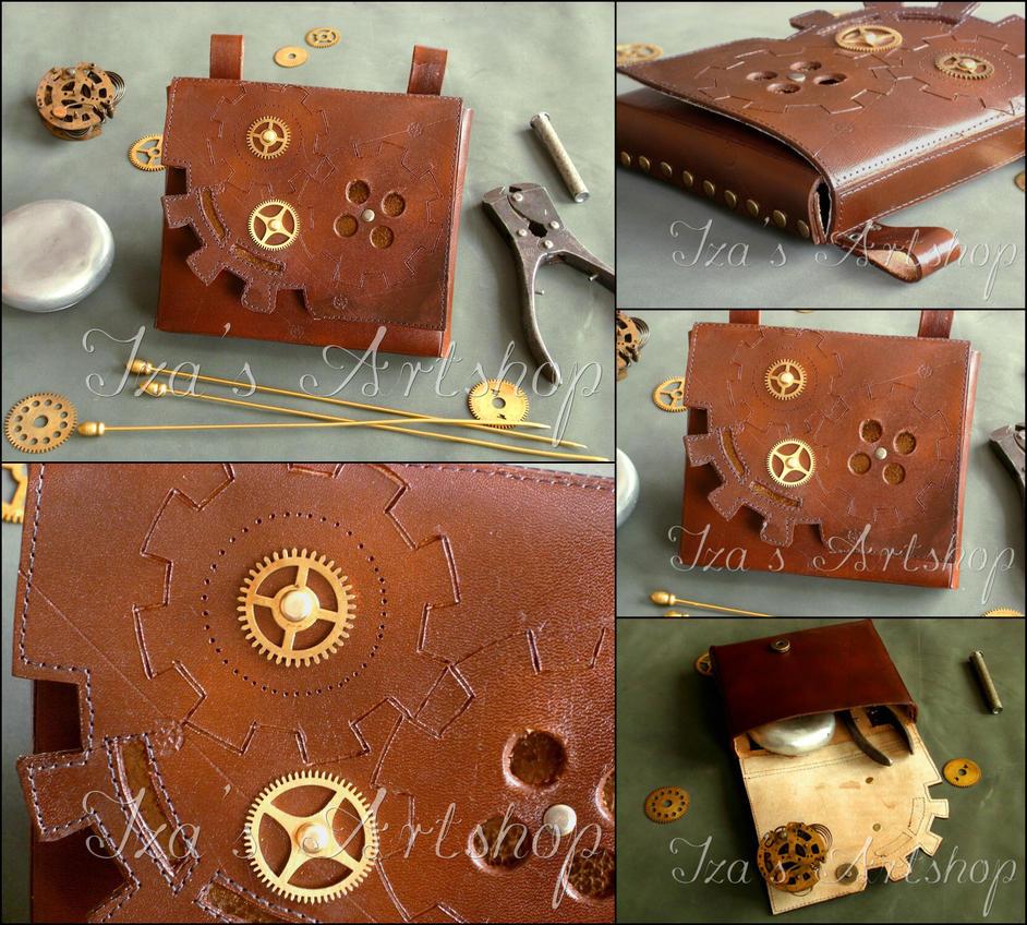 Steampunk Leather Belt Bag II by izasartshop