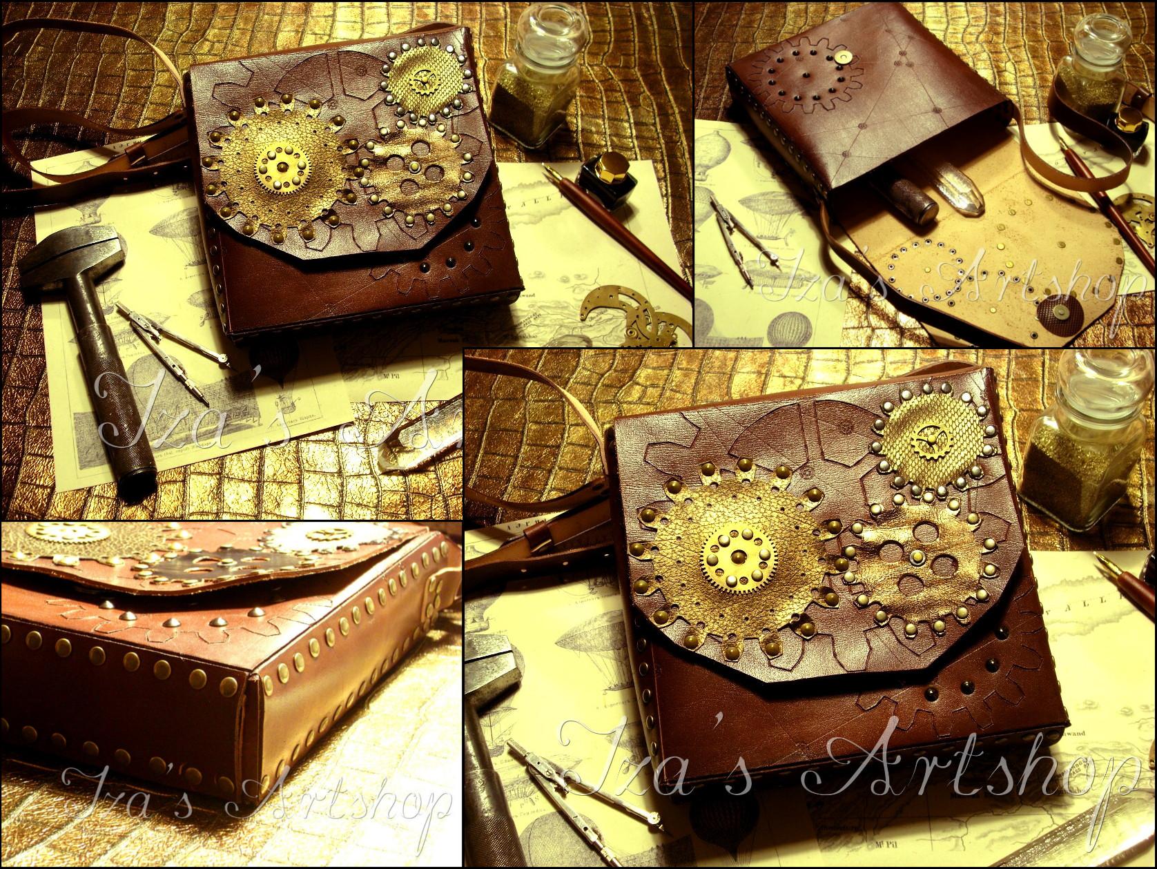 Steampunk Shoulder Bag III by izasartshop