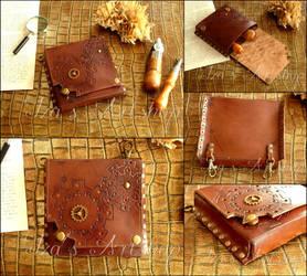 Small Steampunk Leather Belt Bag III by izasartshop