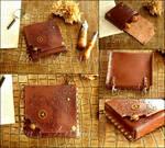 Small Steampunk Leather Belt Bag III