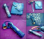 Blue Fantasy Leather Set