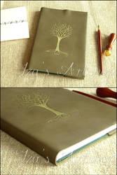 Golden Tree of Valinor Notebook by izasartshop