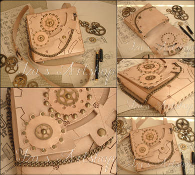 Technical Sketch Steampunk Leather Pouch