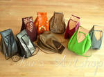 Medieval Leather Pouches - New Colors