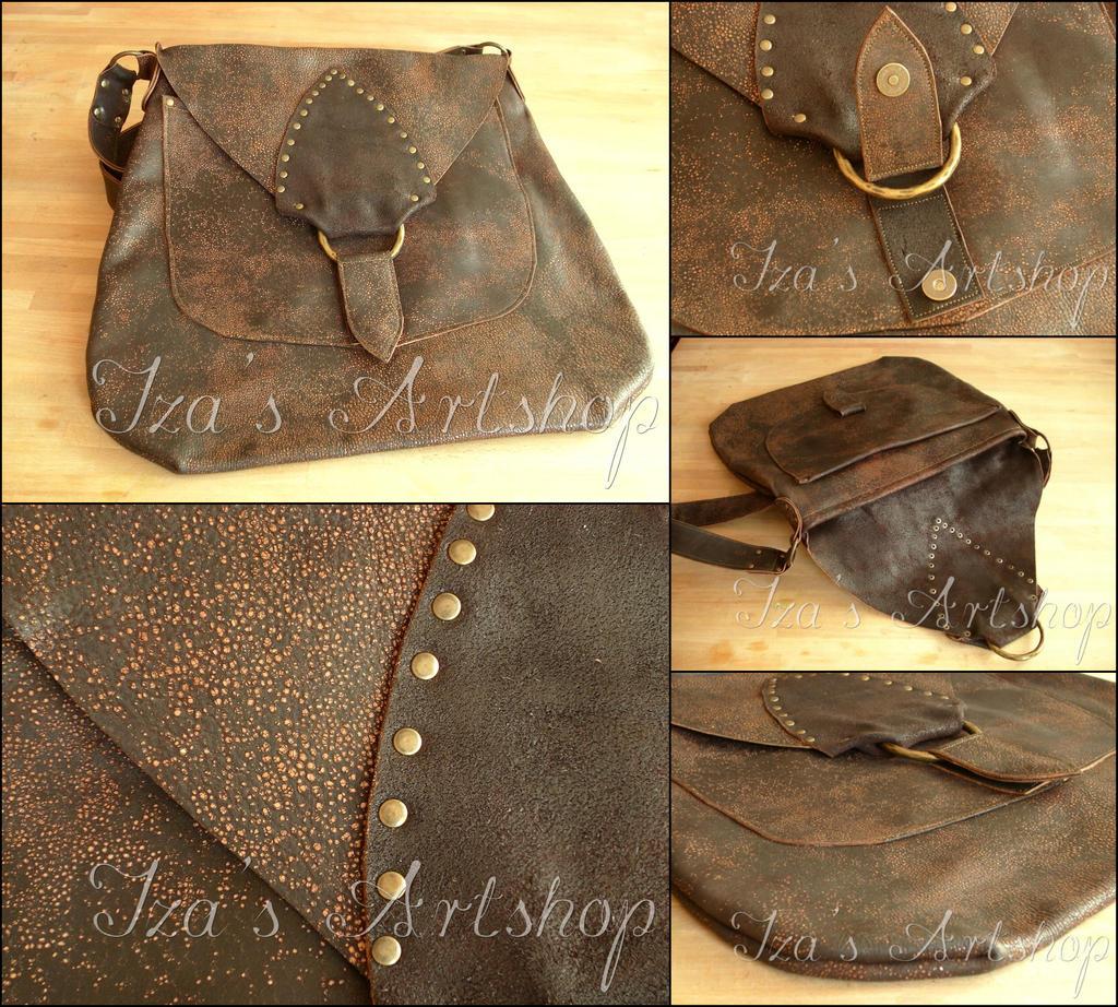 Steampunk Heavy Duty Leather Messenger Bag by izasartshop