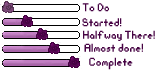 Purple Progress Bars by KalteEinsamkeit