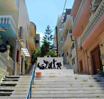 Street at Agios Nikolaos, Crete