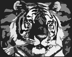 Tiger Pumpkin Carving Pattern by Armuri