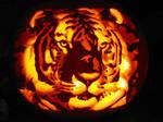 Tiger Pumpkin Carving