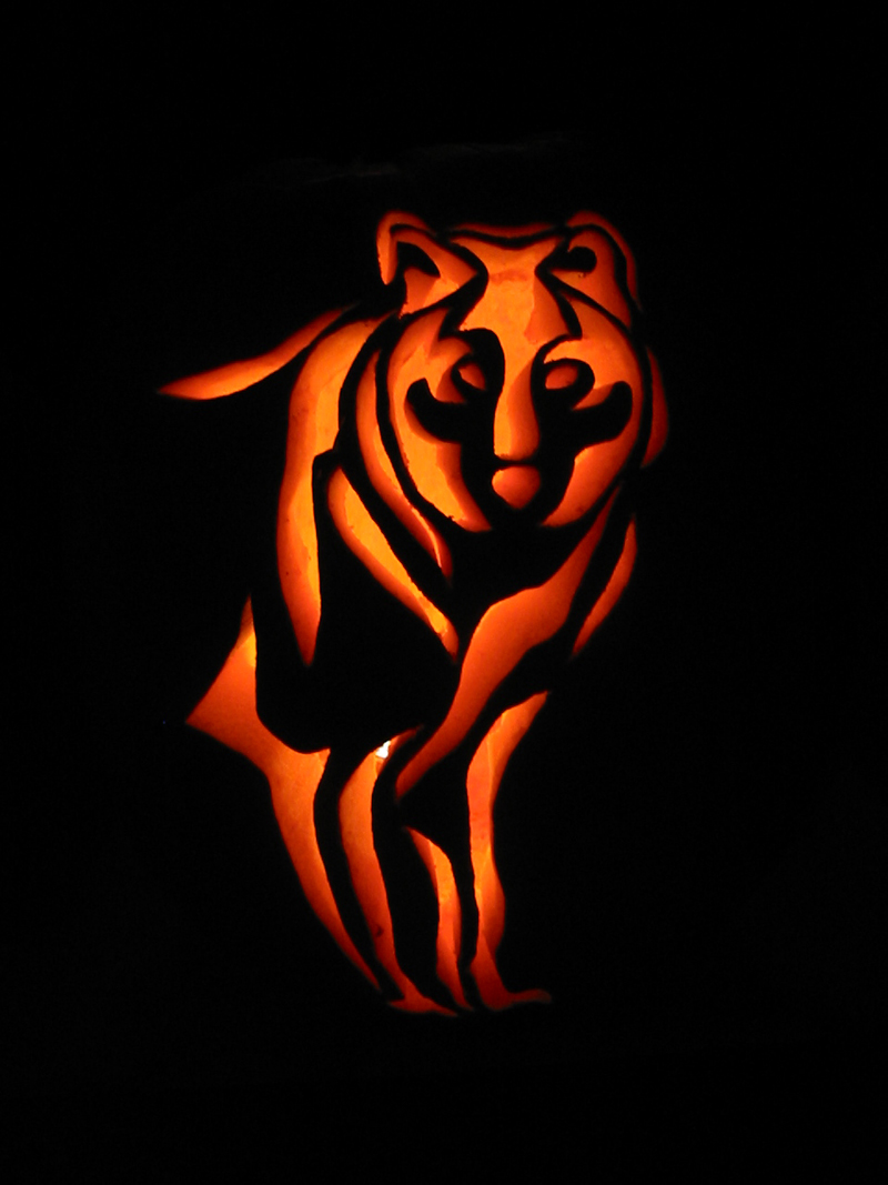Wolf pumpkin carving by armuri on deviantart