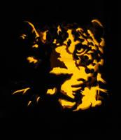 Leopard Pumpkin Carving by Armuri