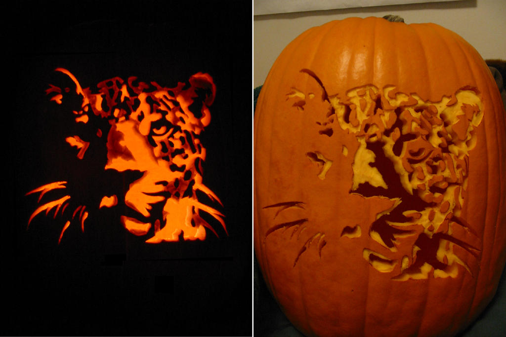 Real Leopard Pumpkin Carving By Armuri On Deviantart