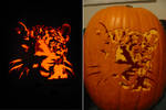 Real Leopard Pumpkin Carving