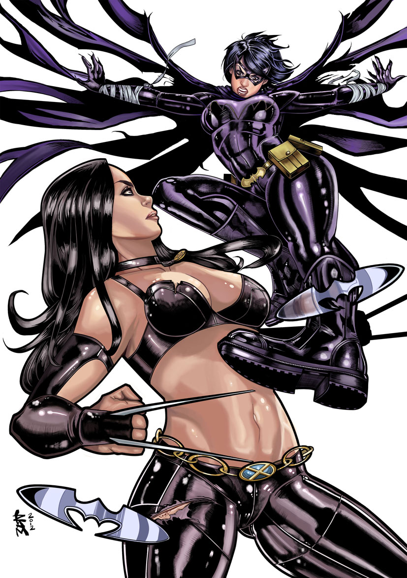 Black Bat vs X-23 Color by RamArtwork