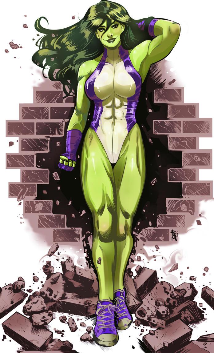 She-Hulk 2 color by RamArtwork on DeviantArt