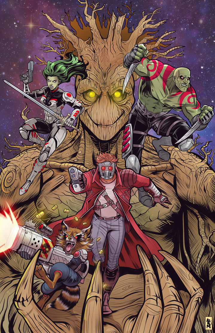Guardians of the Galaxy color by RamArtwork
