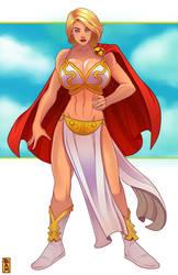 Power Girl cosplay Leia 2 by RamArtwork
