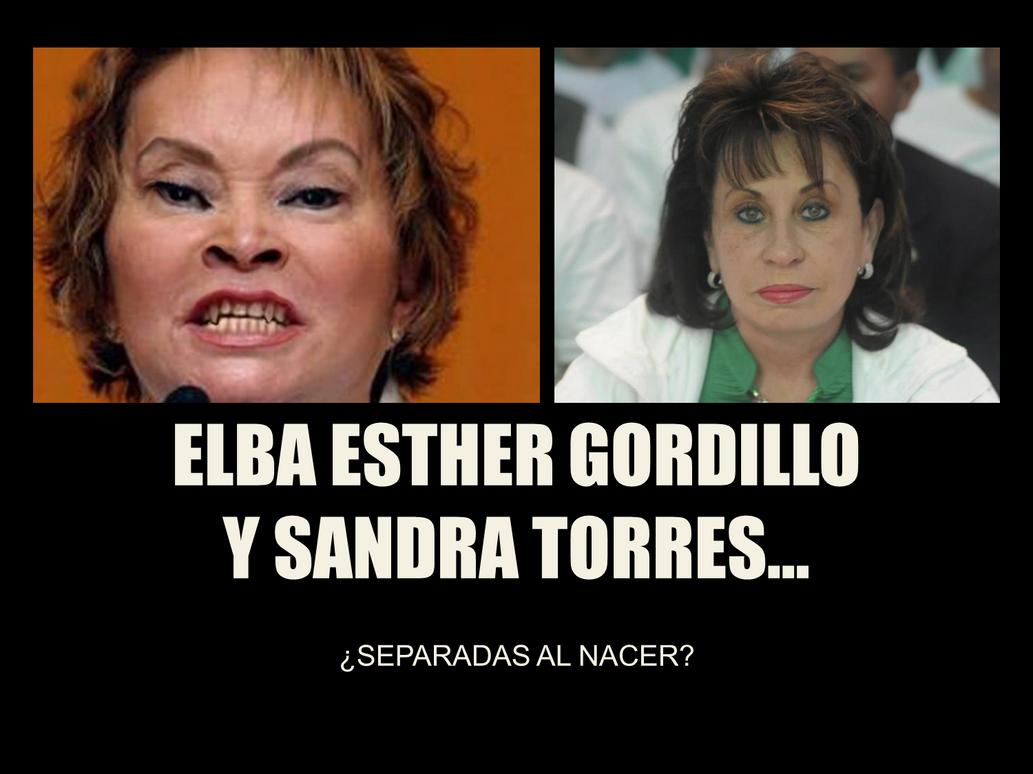 Elba Esther y Sandra Torres... by MarioStrikerMurphy