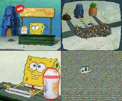 SpongeBob Selling Leshe Shabo by MarioStrikerMurphy
