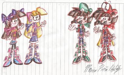 Melody And Violet Meet Mario And Luigi