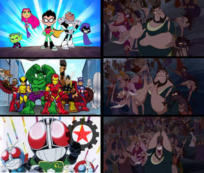 Thebans Reactions To Superhero Parody Animations