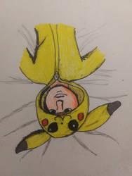 I Drew Myself In My Pikachu Onesie lol