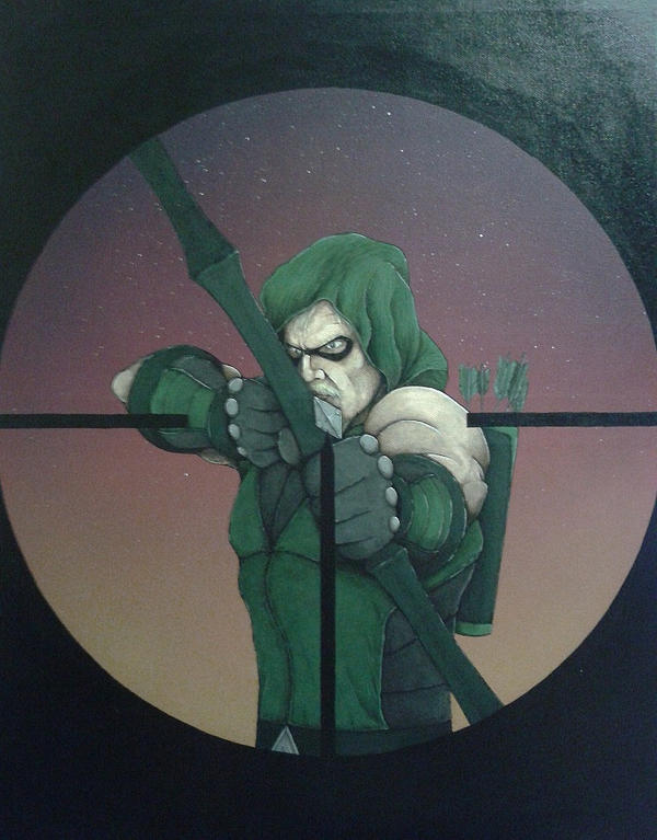 Green Arrow (target) by simonbearedwards