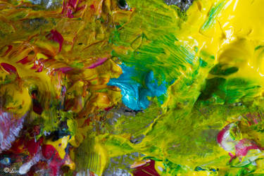 Texture verte et jaune by Leina1