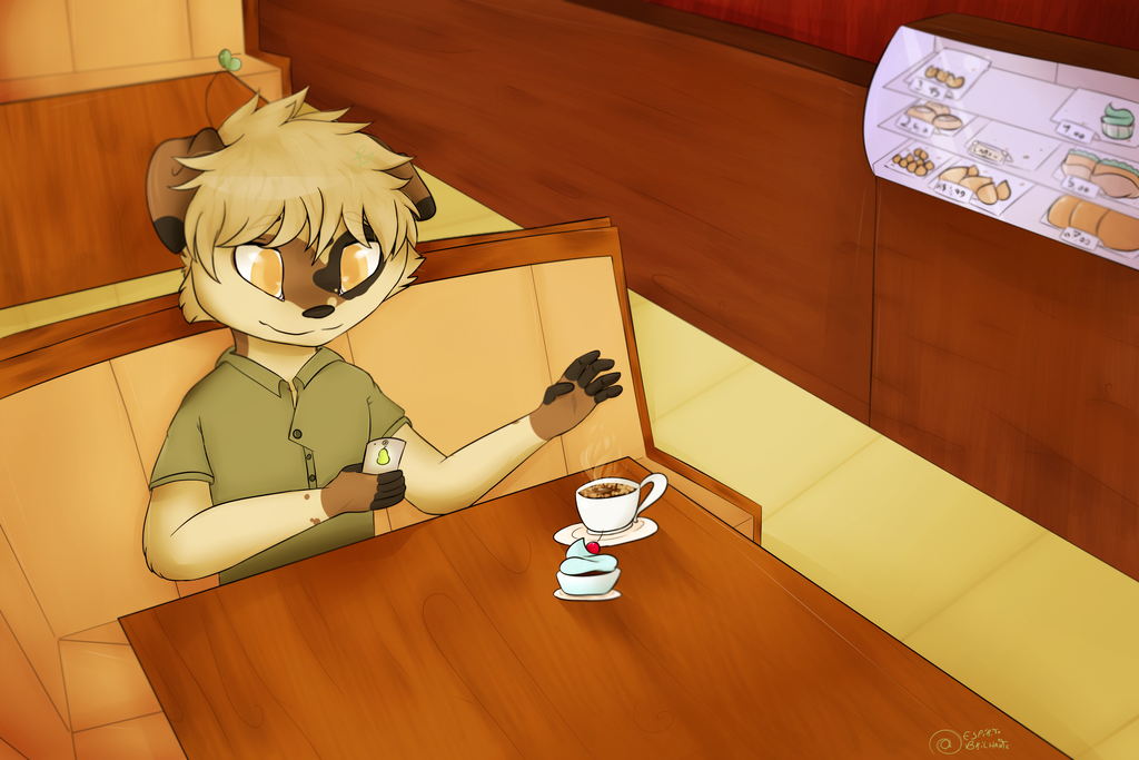 Art trade - Coffee - G+ by EspiritoBrilhante