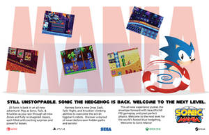 Sonic Mania 90s magazine ad (fan made) by Linkabel32
